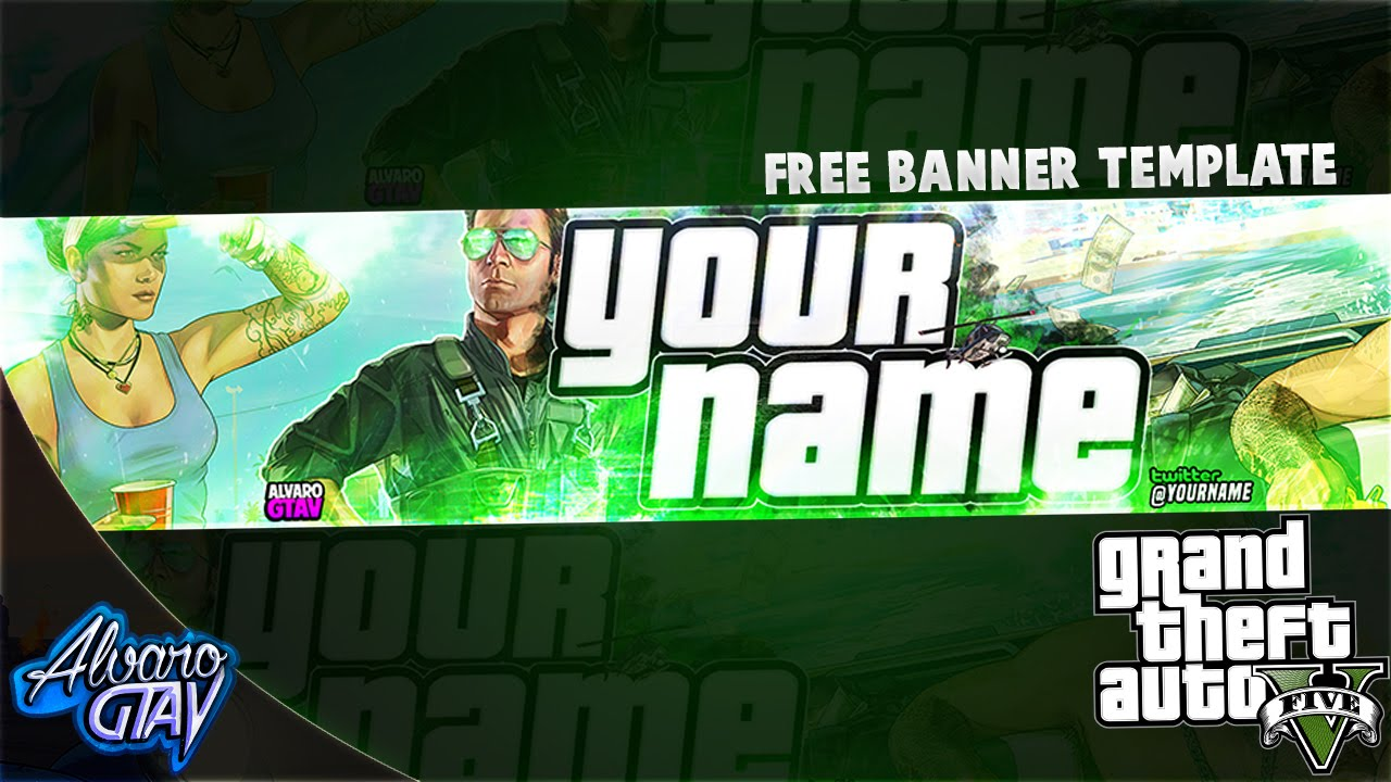 Free Banner Template 2016 Grand Theft Auto 5 GTA5 - Banner ...