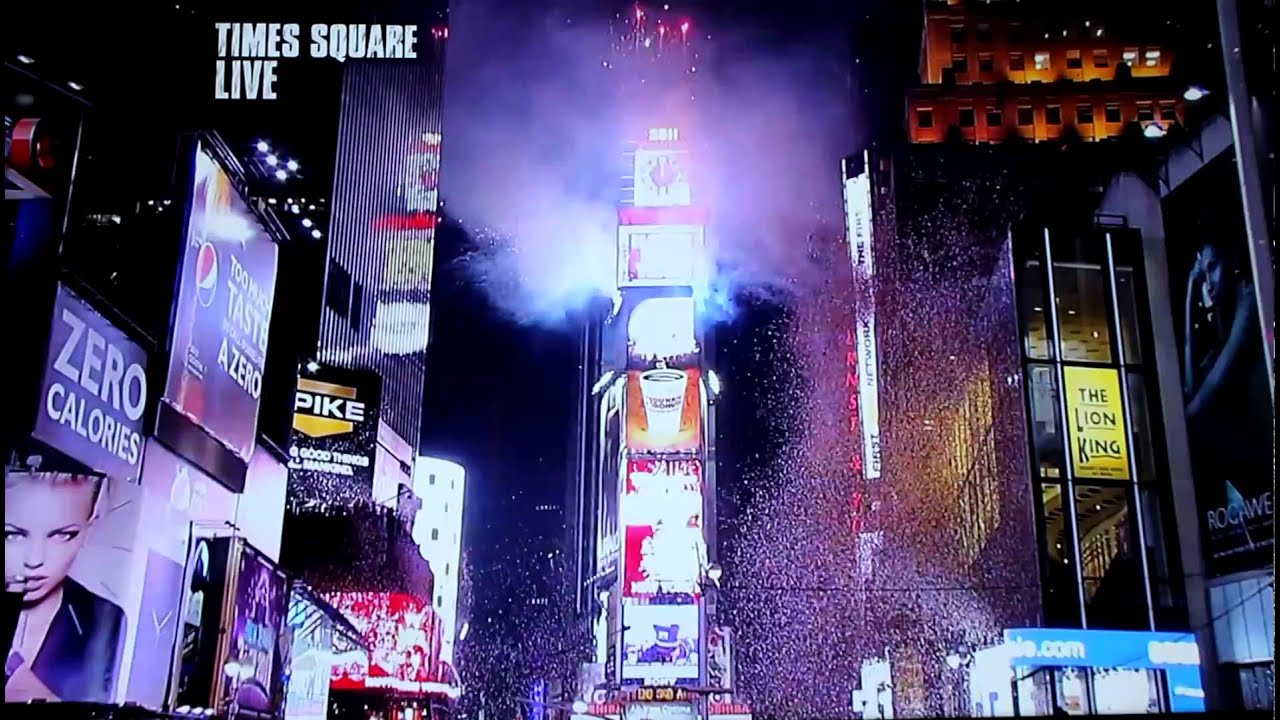 Ball Drop In Times Square