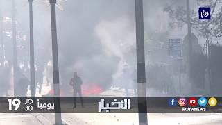 لليوم السادس على التوالي الفلسطينيون على خط التماس مع الاحتلال يدافعون عن أرضهم - (12-12-2017)