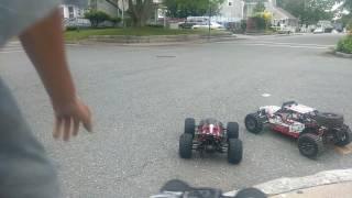 Trmt8e be6s, losi dbxl 8s, e maxx brushless speed run pt2!!!!