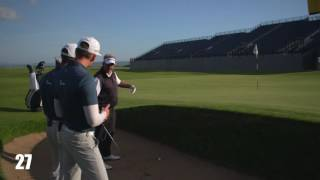 HOW TO PLAY OUT OF A POT BUNKER WITH DARREN CLARKE