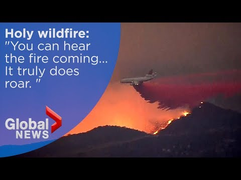 California wildfire: Firefighters battle to curb Holy fire