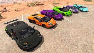 Lamborghini Crash Jumps & Fails  - BeamNG.drive Best Car Accidents