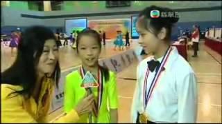 2012年校際體育舞蹈比賽,嘉嘉舞蹈坊冠軍學員接受TVB訪問
