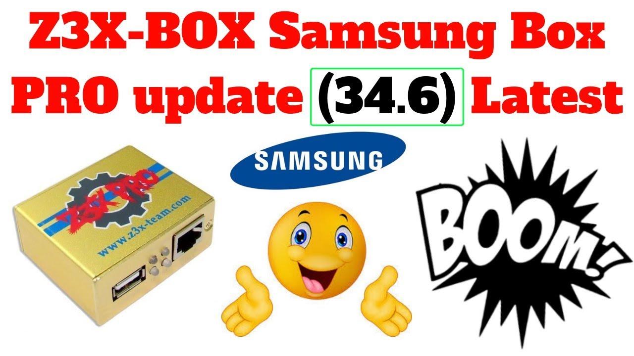 Z3X-BOX Samsung Box PRO update  Samsung tool PRO 34 6 Latest by RJ Solutions