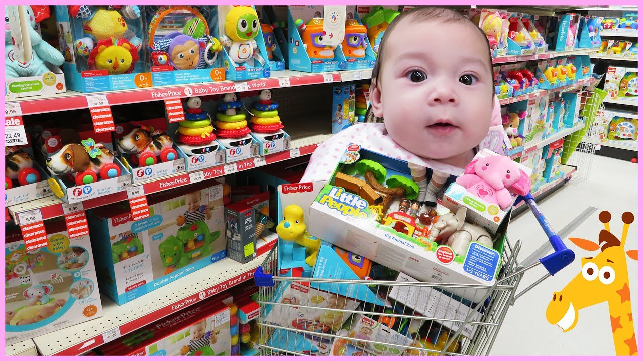 BABYs 1st TOY HUNT at Toys R Us! Kids Toy Store Family ...