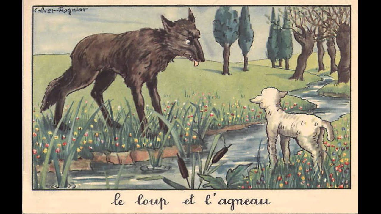 Le loup et l 39 agneau youtube - Dessin agneau ...