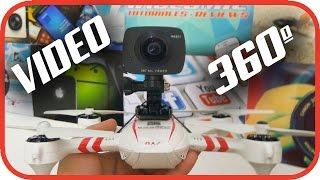 Video 360º con drone Jyu Hornet S y cámara Elephone Elecam 360º REALES