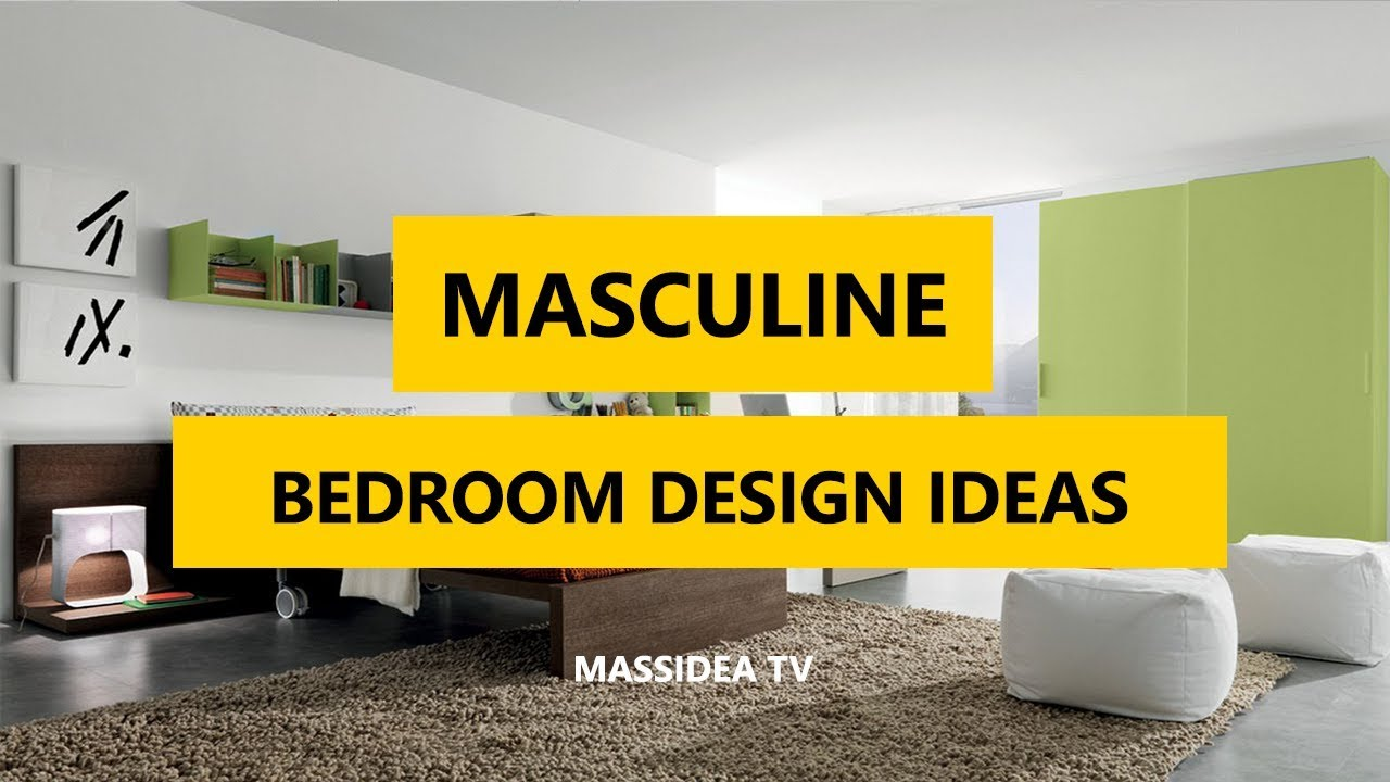 50+ Cool Masculine Bedroom Design Ideas 2018 - YouTube