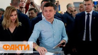 Владимир Зеленский проголосовал на выборах в Раду / Видео