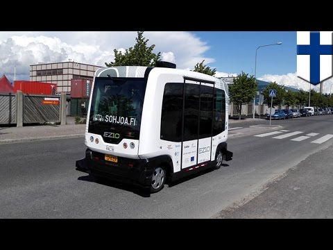 Driverless buses hit the road in Finland as Helsinki aims to go car-free by 2025 - TomoNews