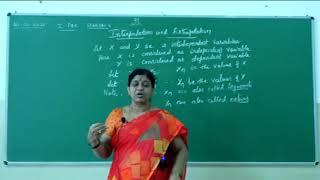 I PUC | Statistics | Interpolation and extrapolation- 01