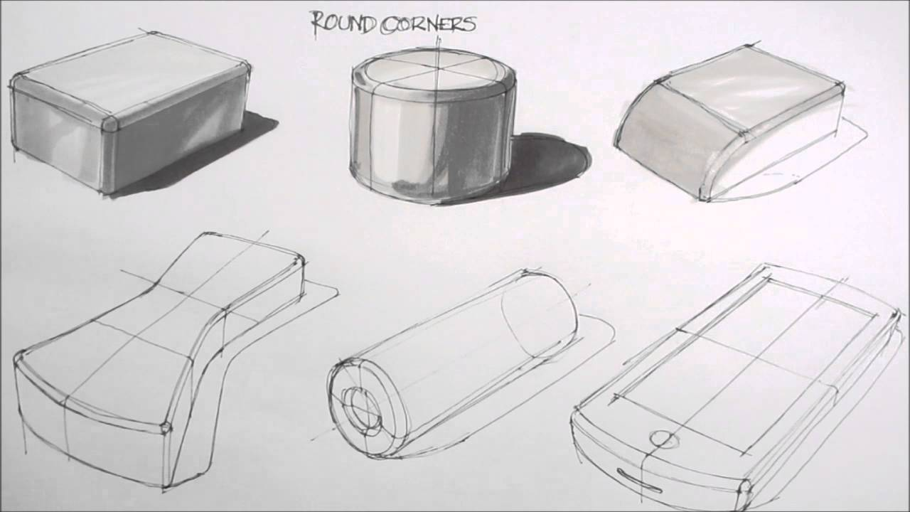 Basic sketching techniques rounded corners youtube