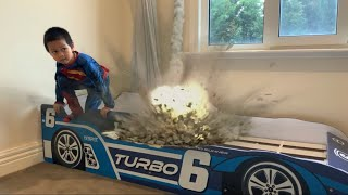 Movie Action Effect on our Racing Car Bed - Super EA
