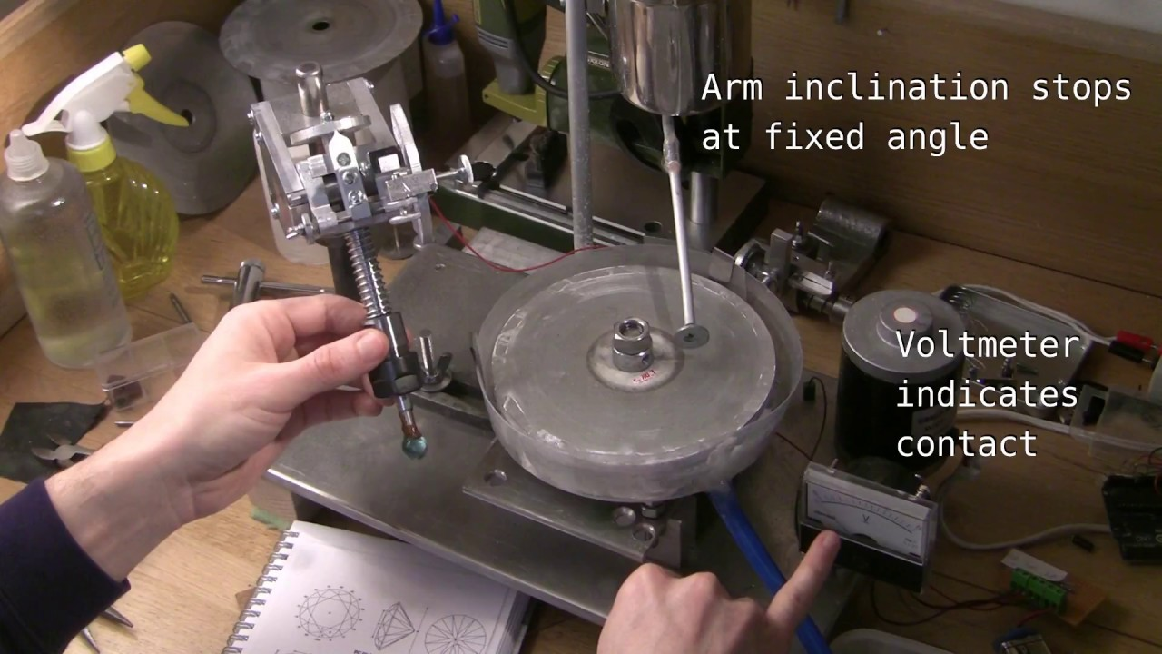 DIY Faceting Machine Part 1 - Head in Action