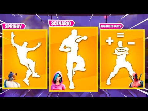 Top 20 Legendary Emotes In Fortnite Battle Royale [Paws & Claws, Springy, Advanced Math]