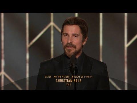 [HD] Christian Bale Wins Best Actor   2019 Golden Globes