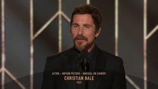 [HD] Christian Bale Wins Best Actor | 2019 Golden Globes