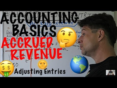 Accounting for Beginners #34 / Adjusting Entries / Journal Entries / Accrued Revenue