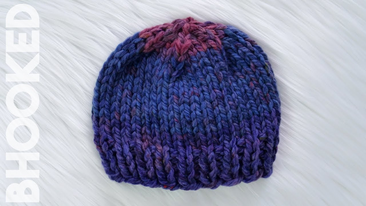 ee00435fd Really Easy Knit Baby Hat Tutorial