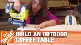 How To Build An Outdoor Coffee Table