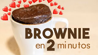 BROWNIE en MICROONDAS 🍫 | en 2 minutos