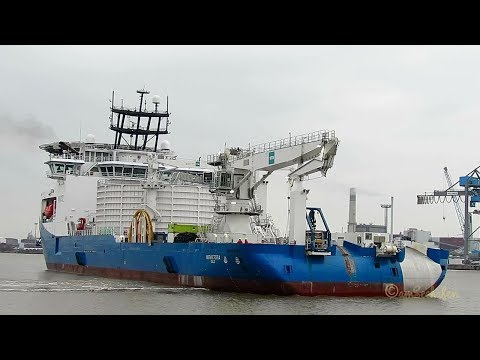 cable layer NKT VICTORIA LAWV7 IMO 9791016 full turn timelapse Emden volle Drehung