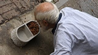 Grandpa Eats Dog Food!!