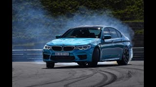 The new BMW M5 on the race track
