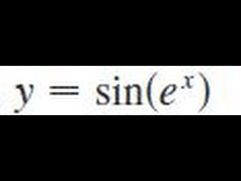 y = sin(e^x), write the composite function in the form f(g(x))