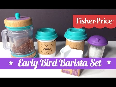 Fisher Price Wooden Toys Early Bird Barista Set