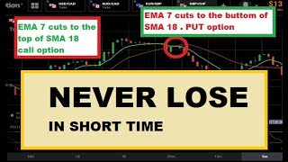 NEVER LOSE - using short period - RSI 16 + 2 MA || iq option strategy