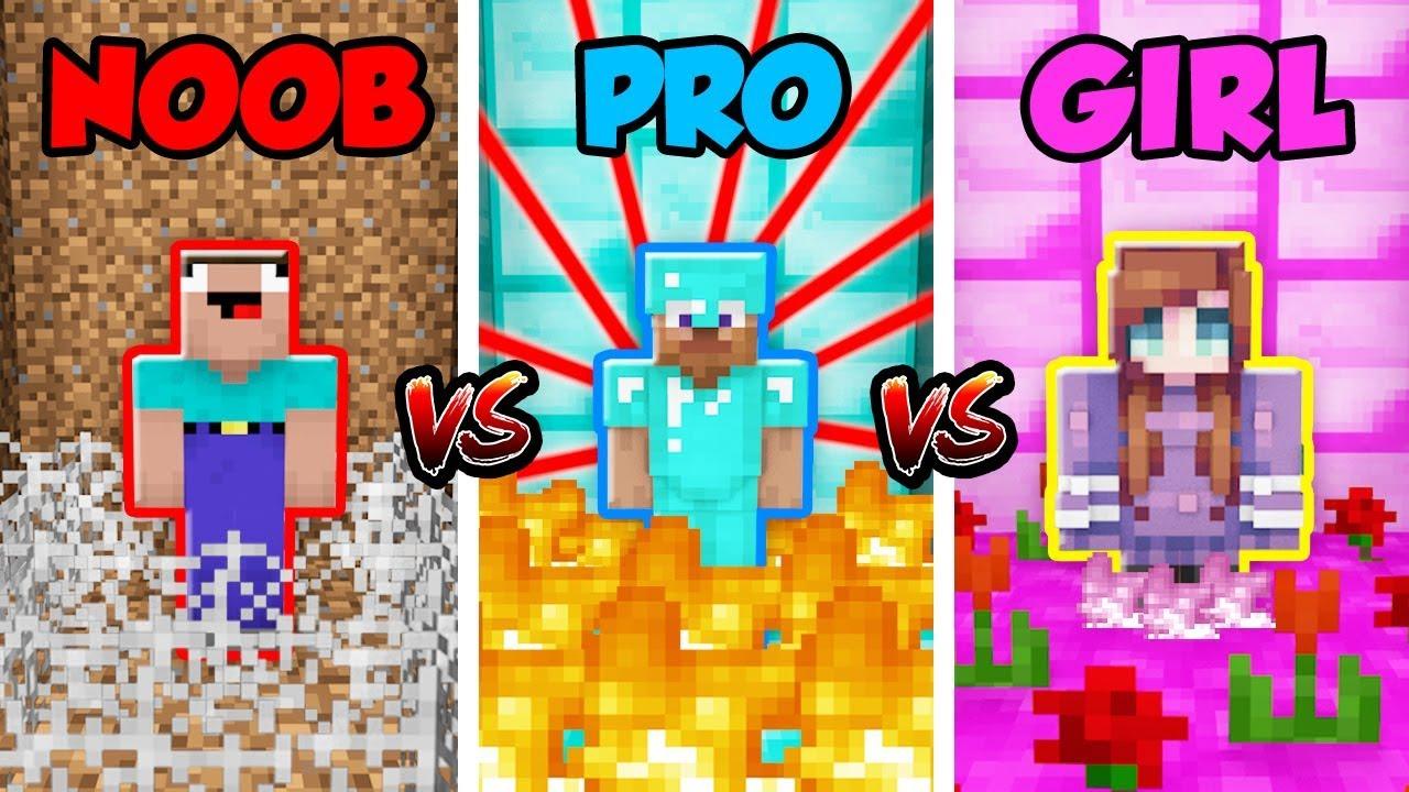 Minecraft NOOB vs. PRO vs. GIRL: SECRET TRAPS in Minecraft! (Animation) #1