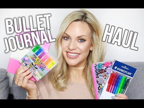 Bullet Journal Haul || Notebook, pens, stickers and more!
