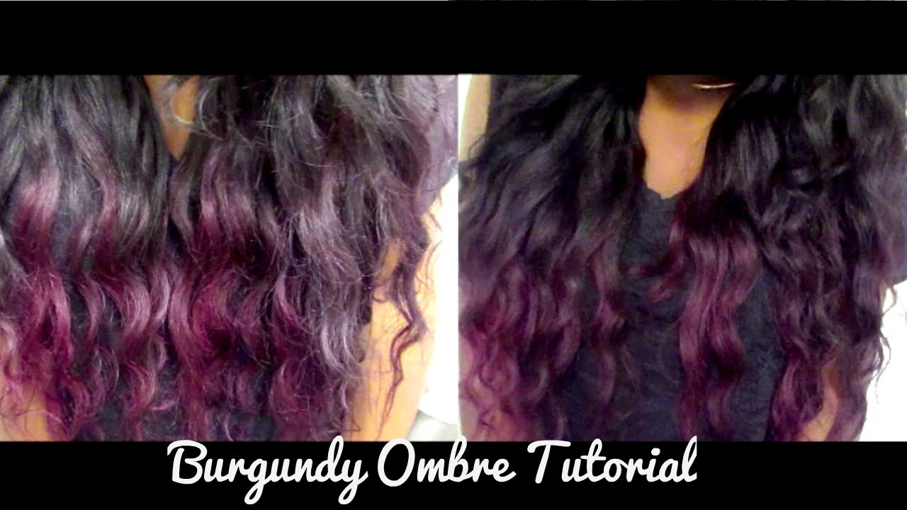 Burgundy Ombre Tutorial Easy Ft Modern Show Hair