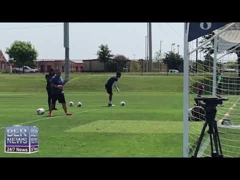 Bermuda Football Team Train In Texas, June 19 2019