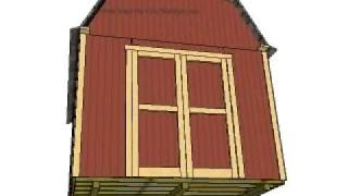 Gambrel Shed Plans 10w X 12l