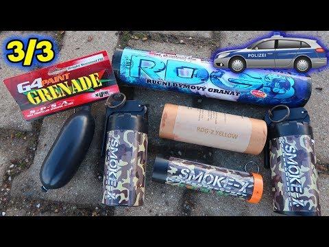 Die Polizei ist da ! | Paintball Paint Grenade | XXL RDG3 SMOKEBOMB