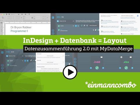 Satzautomat Indesign Datenzusammenführung 2 0 Einmanncombo