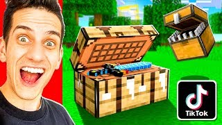 TESTING 10 MORE VIRAL TIKTOK MINECRAFT HACKS TO SEE IF THEY WORK!