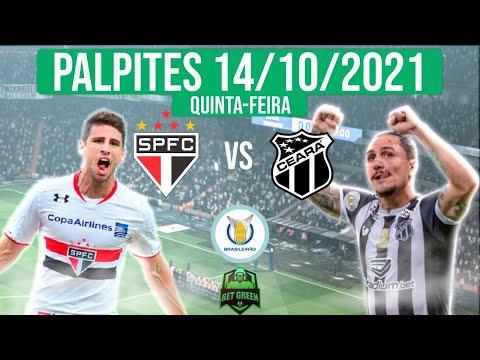 PALPITES DE FUTEBOL PARA O DIA 14/10/2021 (QUINTA-FEIRA) + BILHETES PRONTOS 🍀