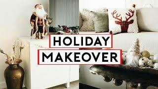 CHRISTMAS APARTMENT MAKEOVER! COZY + MINIMAL HOLIDAY DECOR 2019 🎄🎁  Nastazsa