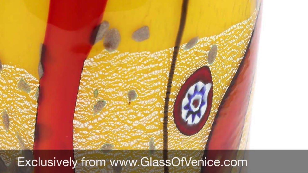 Modern Murano Gl Vase - Yellow | www.GlOfVenice.com - YouTube on yellow contemporary vase, yellow cube vase, yellow mccoy vase, yellow art deco vase, yellow butterfly vase, yellow weller pottery vase, yellow glass vase, yellow chinese vase,