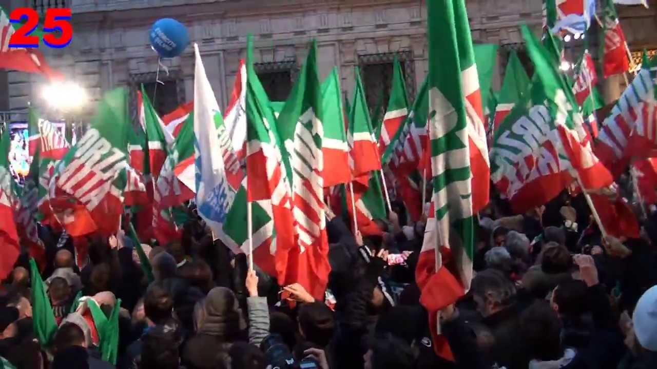berlusconi comizio e forza italia inno di mameli dopo