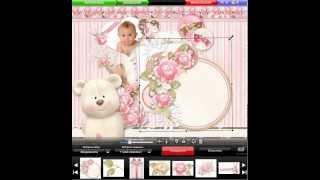Пример создания фото-рамочки в приложении Вебка