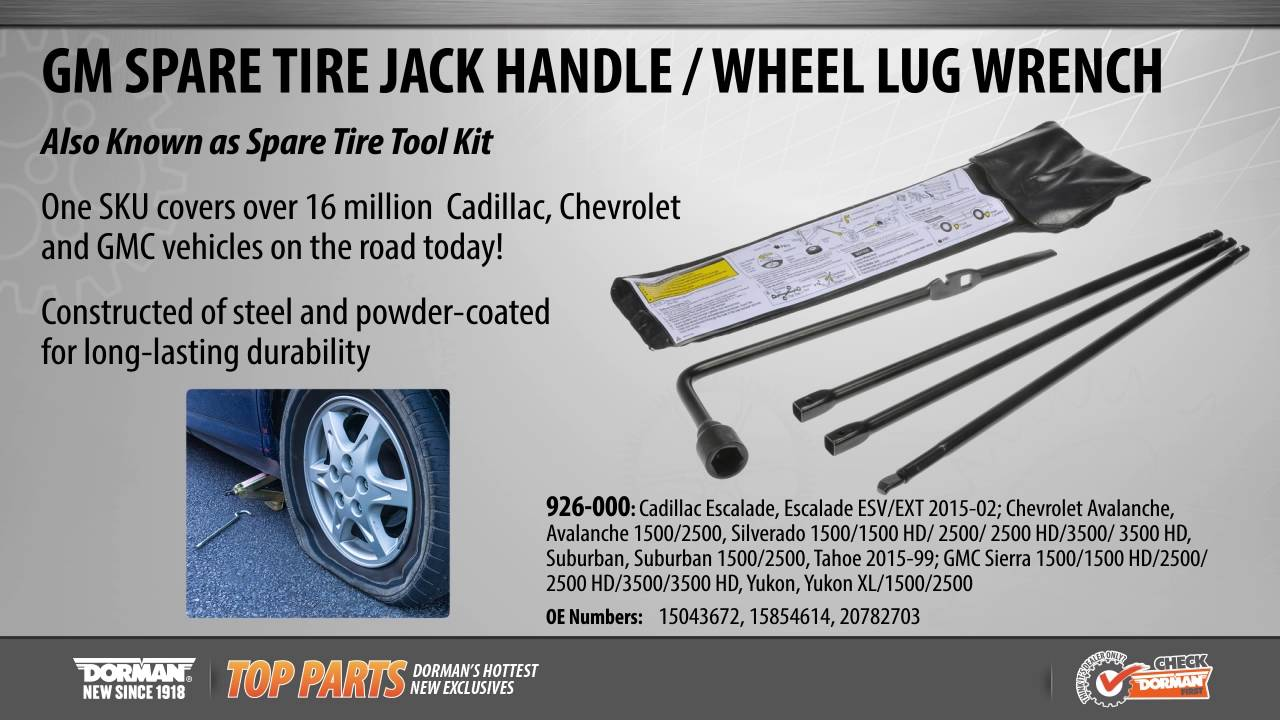 Spare Tire Jack Handle / Wheel Lug Wrench - YouTube