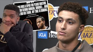 KUZMA SAYS HE'S THE NEXT KAWHI LEONARD!?