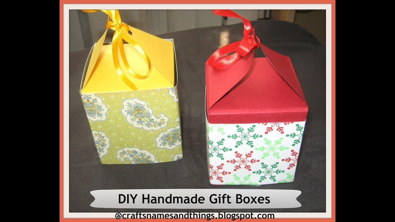 Diy Handmade Paper Gift Boxes Using Only One Sheet Of Paper How