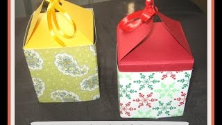 DIY Handmade Paper Gift Boxes ( using only one sheet of paper )/ How to make a gift box