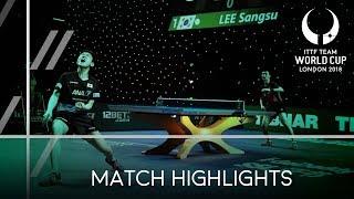 2018 Team World Cup Highlights I Tomokazu Harimoto vs Jeong Sangeun (1/2)